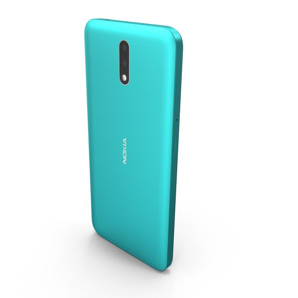 Nokia 2.3 Cyan Green PNG & PSD Images