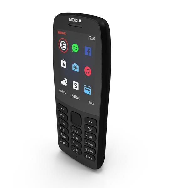 Nokia 210 2019 Black PNG & PSD Images
