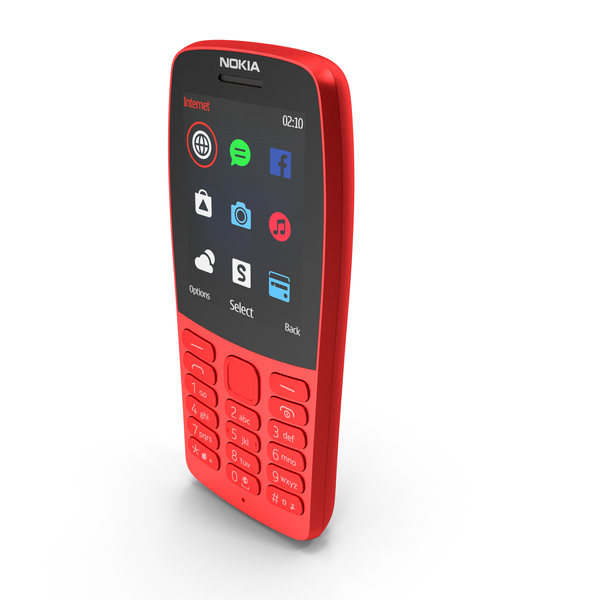 Nokia 210 2019 Red PNG & PSD Images