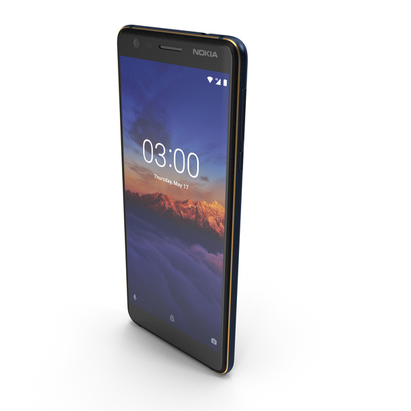 Nokia 3.1 Blue PNG & PSD Images