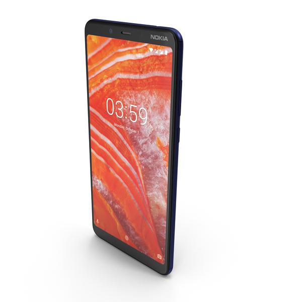 Nokia 3.1 Plus Blue PNG & PSD Images