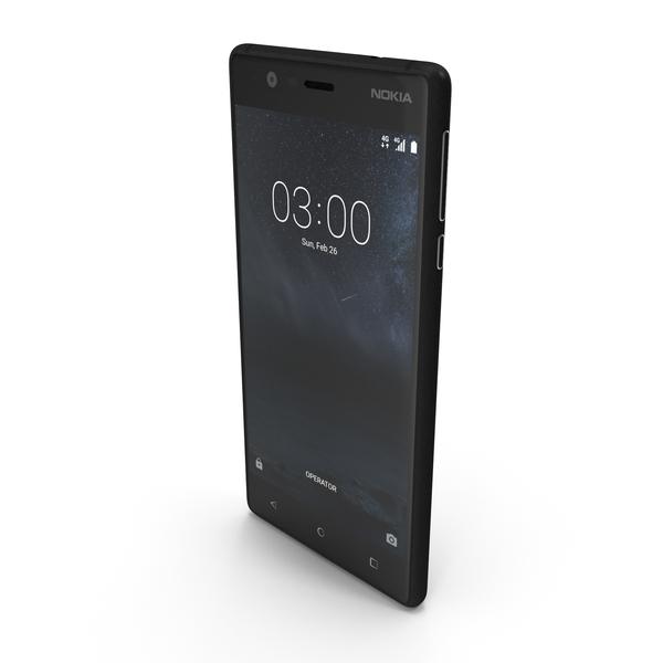 Nokia 3 Matte Black PNG & PSD Images