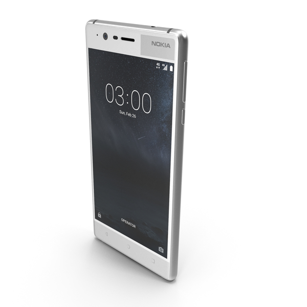 Nokia 3 Silver White PNG & PSD Images