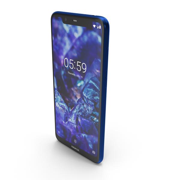 Nokia 5.1 Plus (Nokia X5) Blue PNG & PSD Images