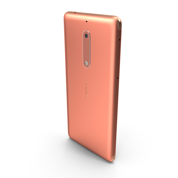 Smartphone: Nokia 5 Copper PNG & PSD Images