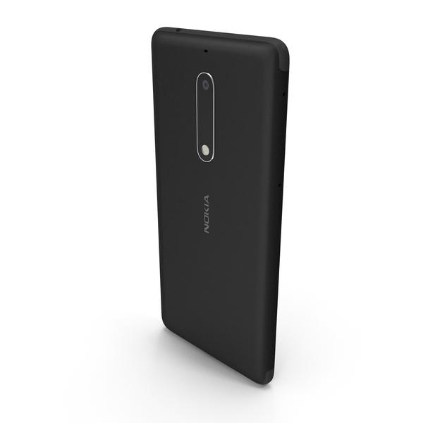 Nokia 5 Matte Black PNG & PSD Images