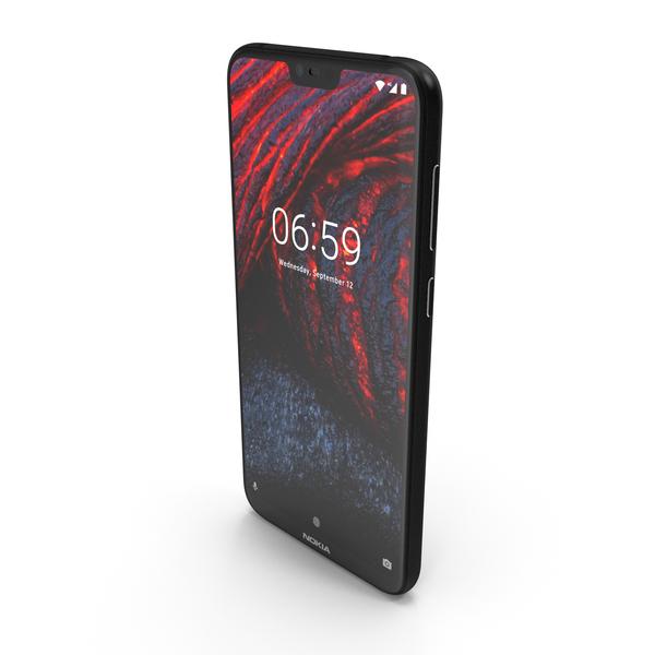 Nokia 6.1 Plus (Nokia X6) Black PNG & PSD Images