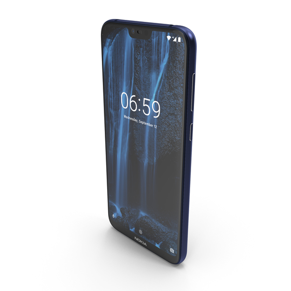 Nokia 6.1 Plus (Nokia X6) Blue PNG & PSD Images