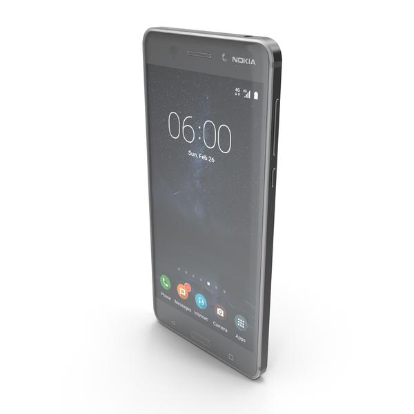 Smartphone: Nokia 6 Arte Black PNG & PSD Images
