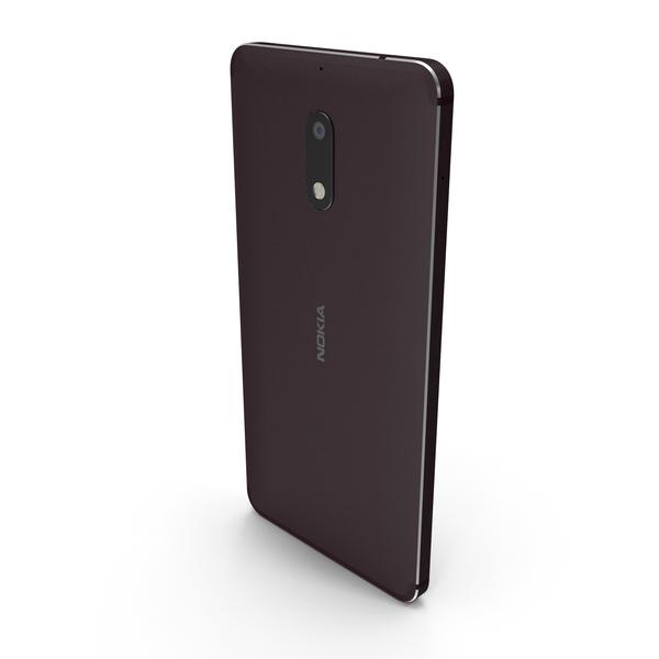 Smartphone: Nokia 6 Black PNG & PSD Images