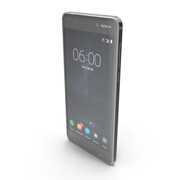 Nokia 6 Matte Black PNG & PSD Images