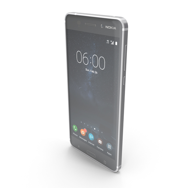 Nokia 6 Silver PNG & PSD Images