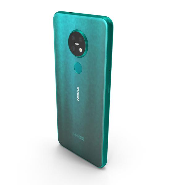 Nokia 7.2 Cyan Green PNG & PSD Images