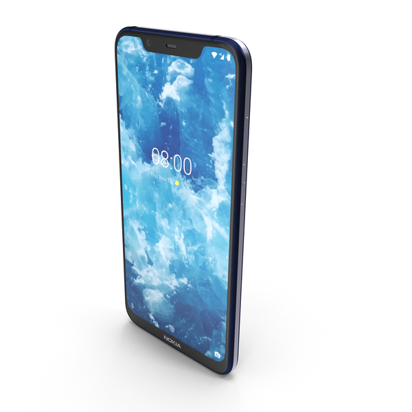 Nokia 8.1 (Nokia 7X) Blue Silver PNG & PSD Images