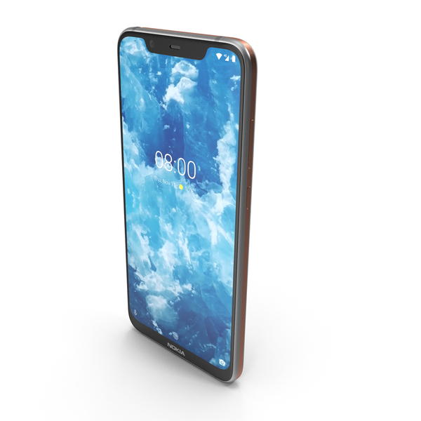 Nokia 8.1 (Nokia 7X) Steel Copper PNG & PSD Images