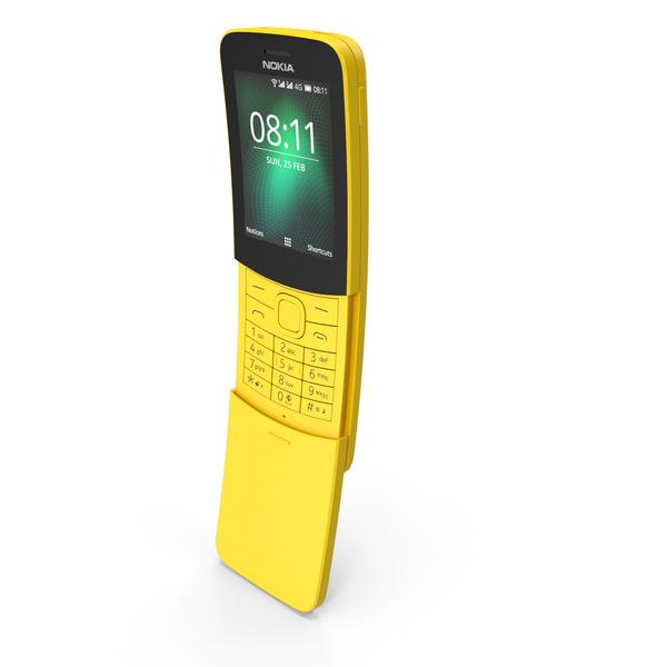 Nokia 8110 Yellow PNG & PSD Images