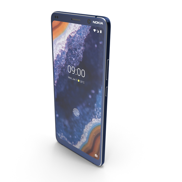 Nokia 9 PureView Blue PNG & PSD Images