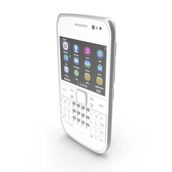 Nokia E6-00 Silver PNG & PSD Images