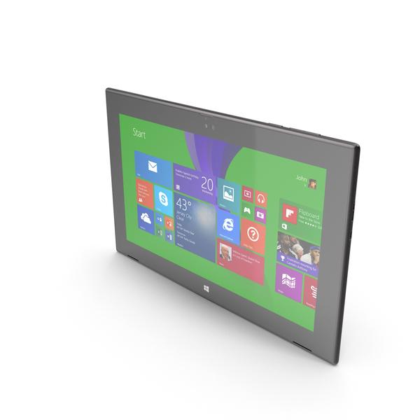 Tablet Computer: Nokia Lumia 2520 Black PNG & PSD Images