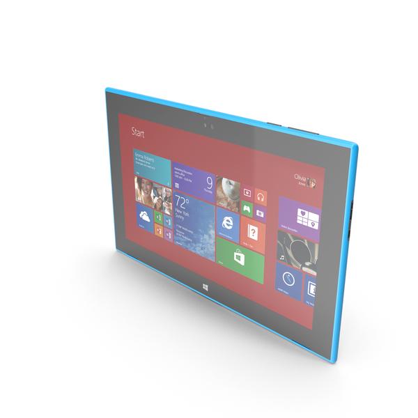 Nokia Lumia 2520 Cyan PNG & PSD Images