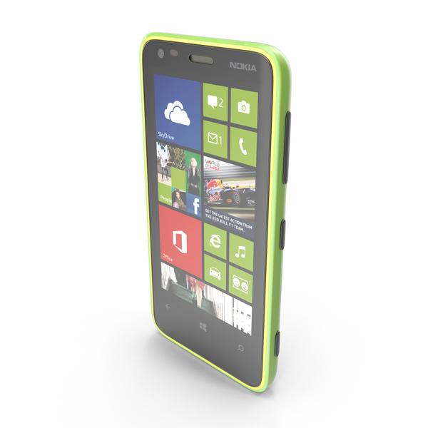 Nokia Lumia 620 Green-Orange-Magenta PNG & PSD Images