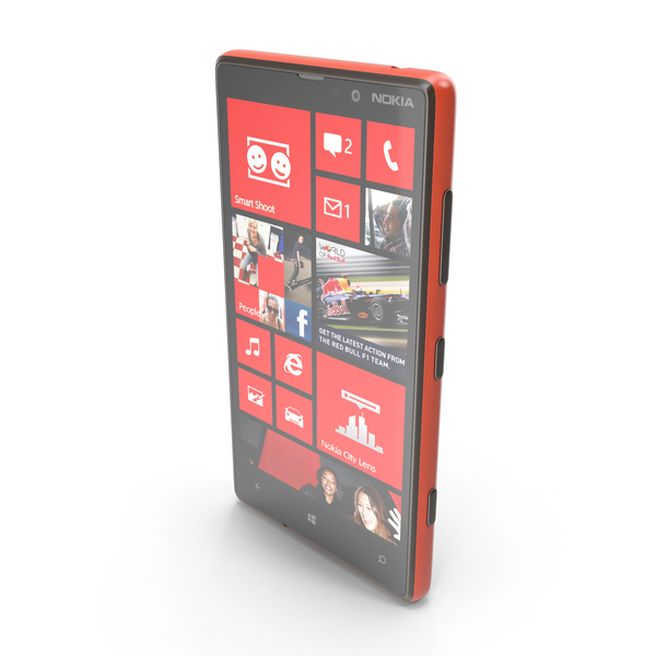 Nokia Lumia 820 Red and Violet PNG & PSD Images