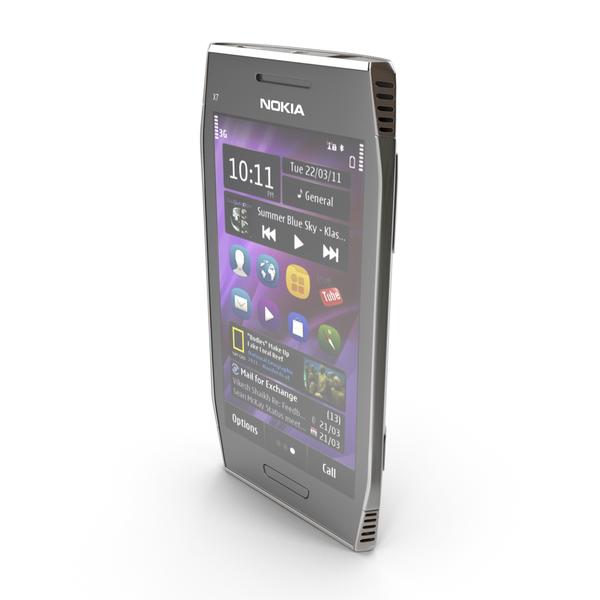 Nokia X7-00 Dark Steel PNG & PSD Images