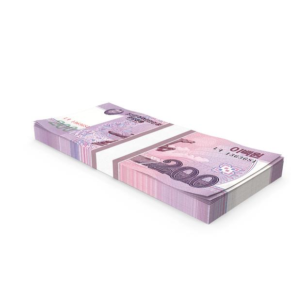 Banknote: North Korea 200 Won Banknotes Pack PNG & PSD Images