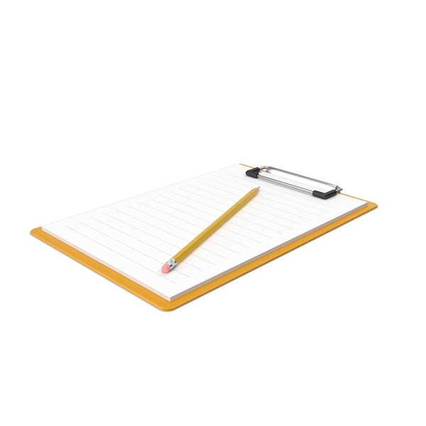 Notepad & Pencil PNG & PSD Images