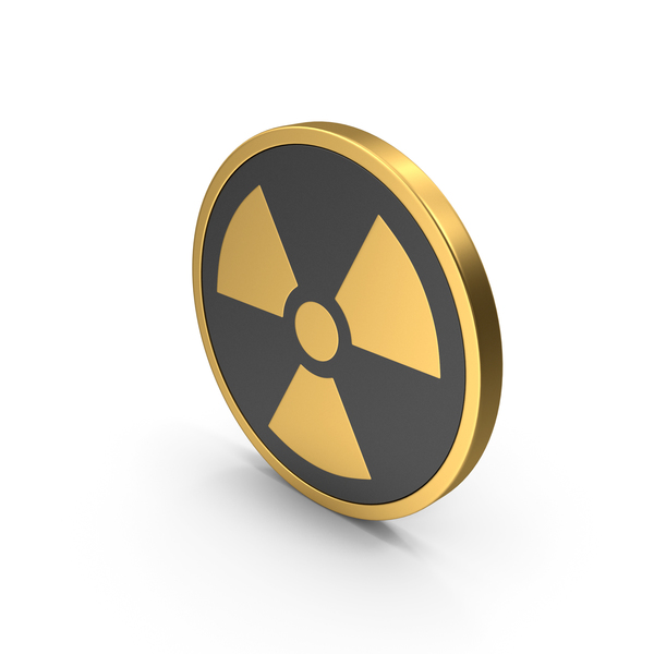 Nuclear Symbol Gold Icon PNG & PSD Images