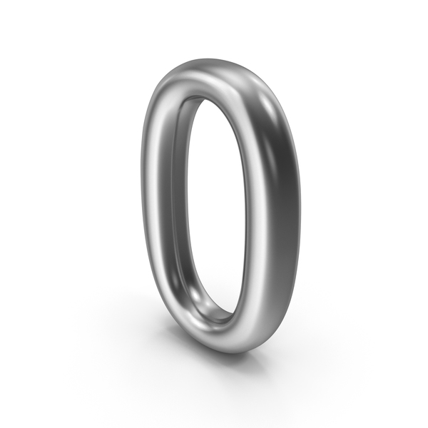 Number 0 Silver PNG & PSD Images