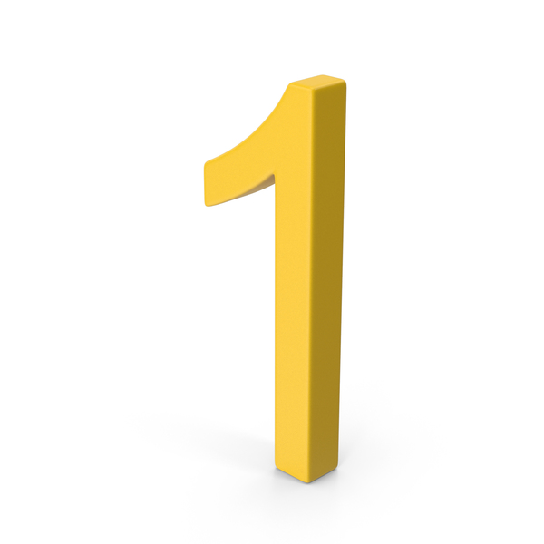 Number 1 Yellow PNG & PSD Images