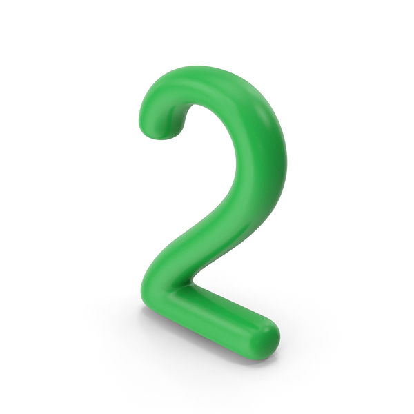 Number 2 Green PNG & PSD Images