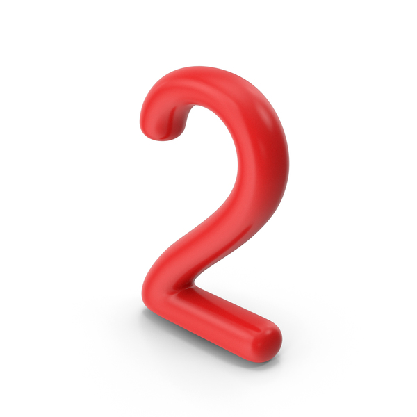 Number 2 Red PNG & PSD Images