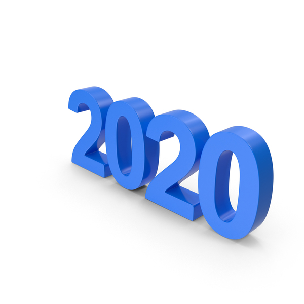 Number 2020 Blue PNG & PSD Images