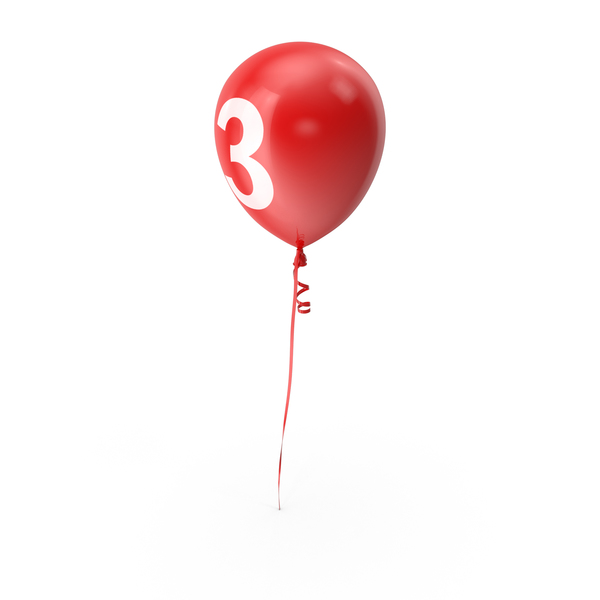 Number 3 Balloon PNG & PSD Images