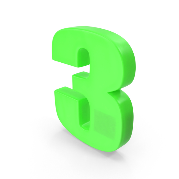 Number 3 Fridge Magnet PNG & PSD Images