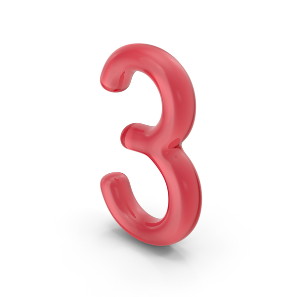 Number 3 Glass PNG & PSD Images