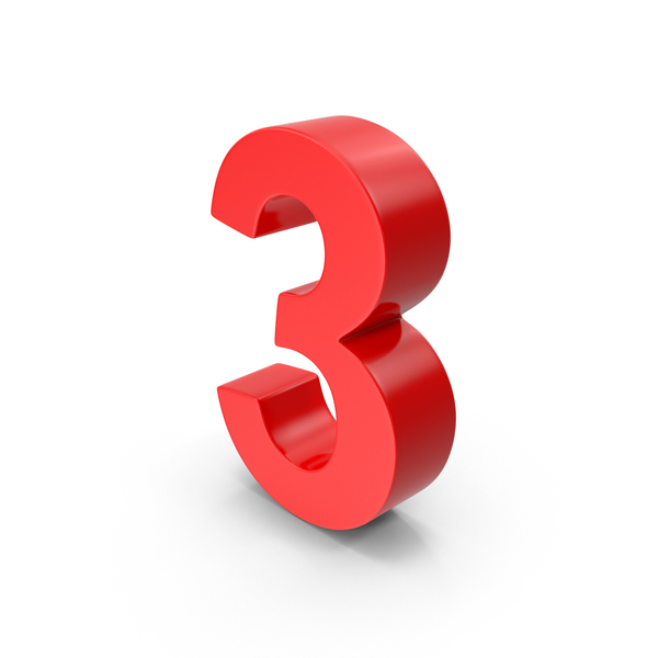 Number 3 PNG & PSD Images