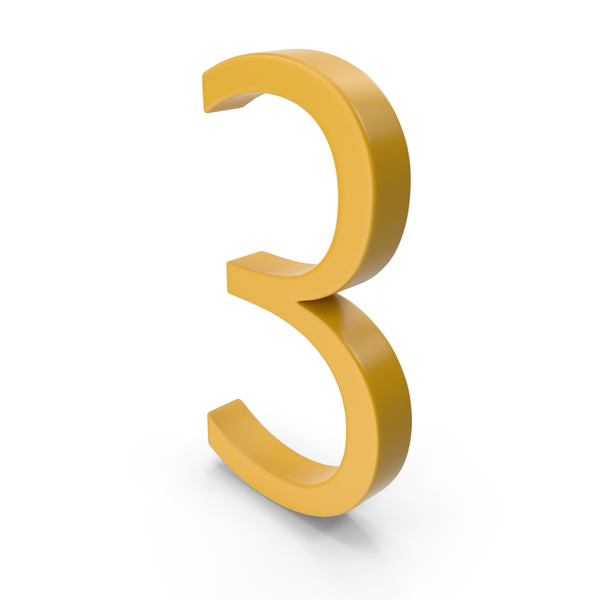 Number 3 Yellow PNG & PSD Images