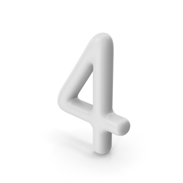 Number 4 PNG & PSD Images