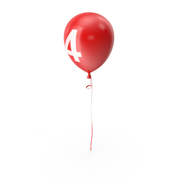 Number 4 Balloon PNG & PSD Images