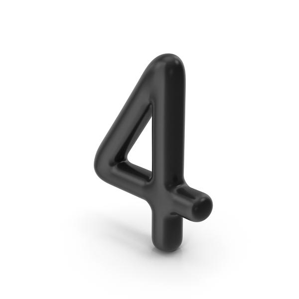 Number 4 Black PNG & PSD Images