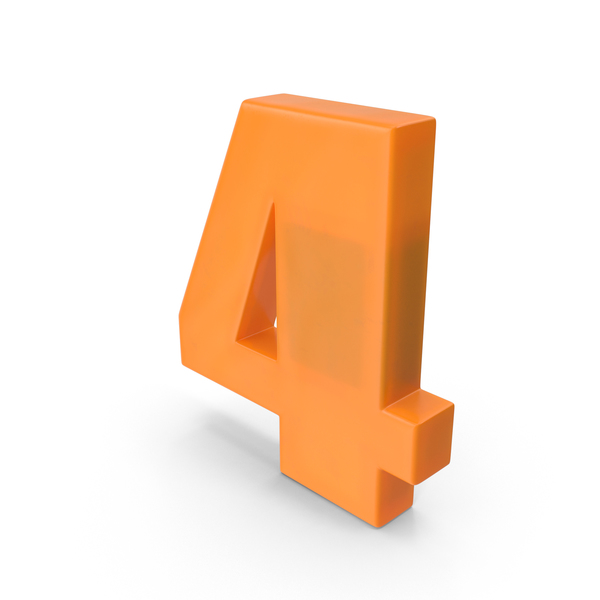 Number 4 Fridge Magnet PNG & PSD Images