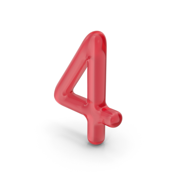 Number 4 Glass PNG & PSD Images