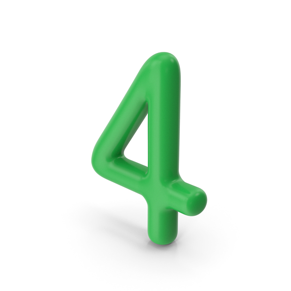 Number 4 Green PNG & PSD Images
