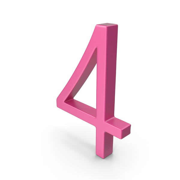 Number 4 Pink PNG & PSD Images