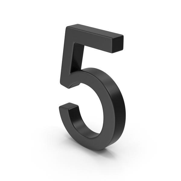 Number 5 Black PNG & PSD Images
