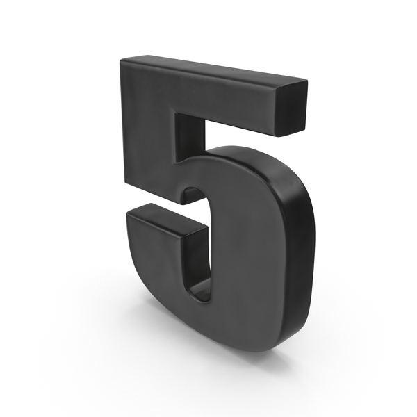 Number 5 Fridge Magnet PNG & PSD Images