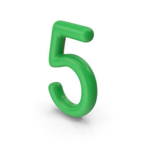 Number 5 Green PNG & PSD Images